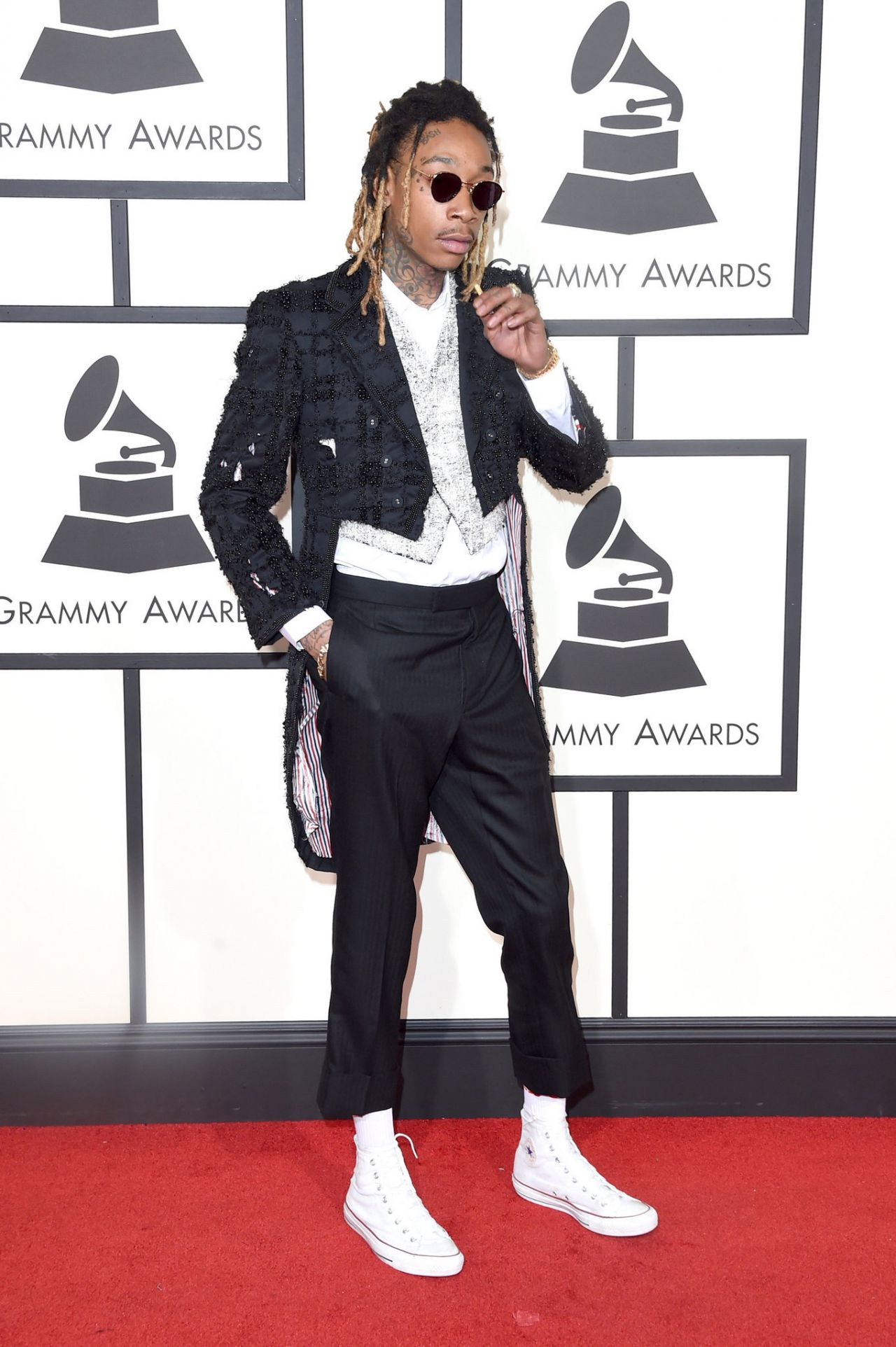 1. Me parece que el mundo aún no está preparado para este tipo de outfits, Wiz Khalifa.