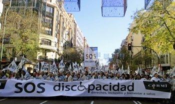 Manifestación por los derechos y el bienestar de los discapacitados