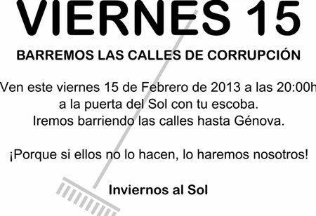 'Viernes 15. Barremos las calles de corrupción'