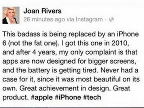 Promoción del iPhone 6 desde el mas allá