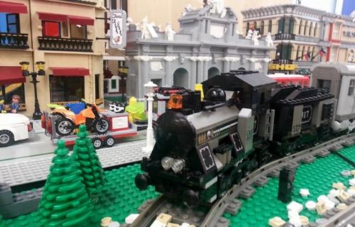 Lego homenajea al Museo del Ferrocarril