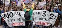 La huelga moviliza a estudiantes y profesores de todo el país