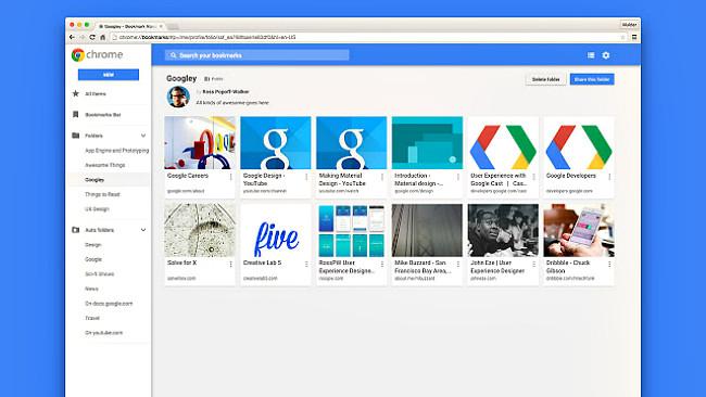 Google retira su nuevo gestor de marcadores de Chrome