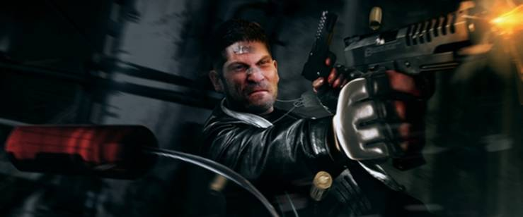 "Jon Bernthal como The Punisher en el rodaje de ""Daredevil"""