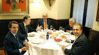 Cena real, presidencial y expresidencial