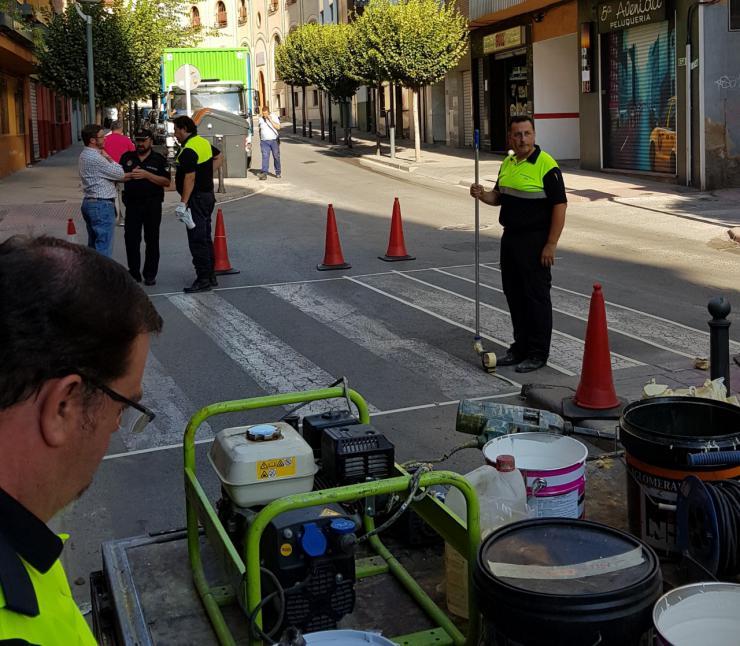 El Ayuntamiento de Jaén pone en marcha una campaña para reforzar la señalización en el entorno de los centros escolares