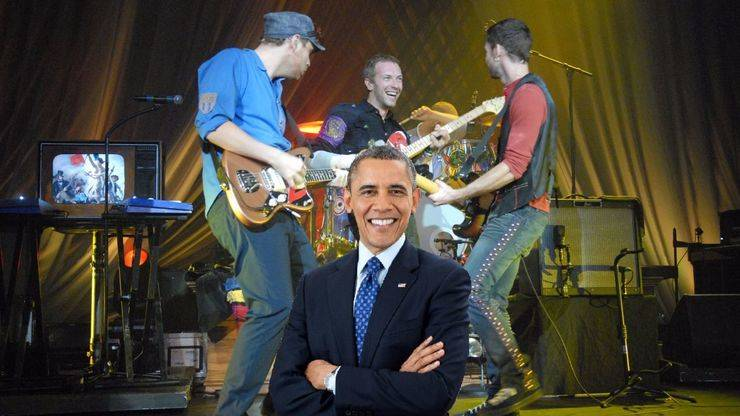 "Coldplay ficha a Obama para ""A head full of dreams"""