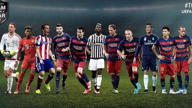 El once ideal de la UEFA es