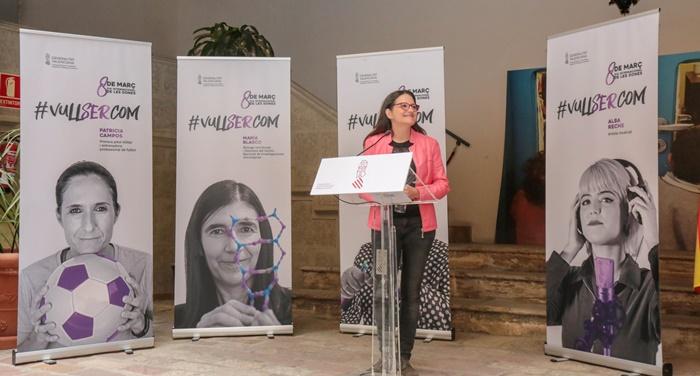 Oltra presenta una campaña del 8M que visualiza a mujeres referentes en diferentes campos y de distintas edades