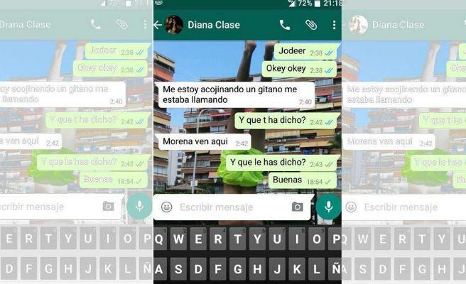 Conversación de WhatsApp de Diana Quer que ha salido a la luz tras su desaparición