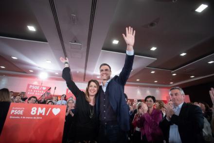 """Díaz: """"Si Sánchez es presidente tras el 28A, las y los socialistas vamos a volver muy pronto a San Telmo"""""""