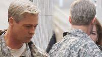 Brad Pitt, irreconocible en el rodaje de su próxima película