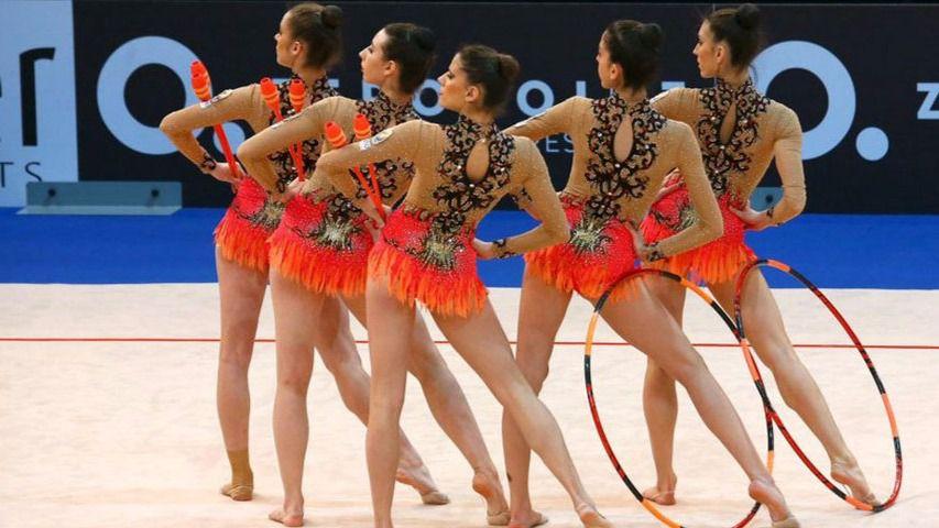 La selección de gimnasia rítmica española triunfa en Espóo
