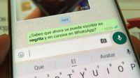 Whatsapp introducirá estilos de texto