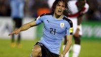 Cavani pone lider a Uruguay para el Mundial de Rusia 2018