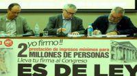 Los sindicatos ya tienen las firmas necesarias para pedir la renta básica