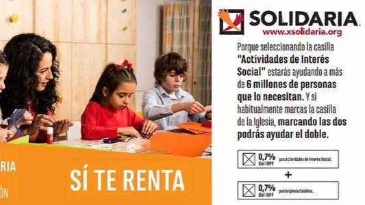 La X Solidaria ayuda a más entidades que Cruz Roja o Cáritas
