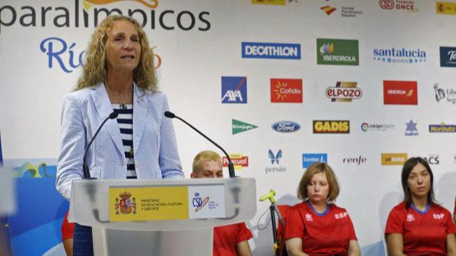 La Infanta Elena viaja a Río para apoyar al equipo español