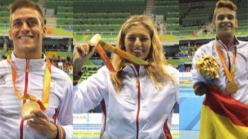 La piscina reporta lluvia de medallas a España