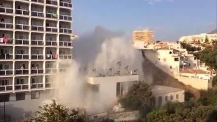 Un pequeño 'tsunami' en Benalmádena