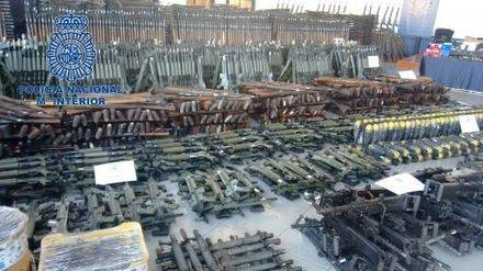Ascienden a más de 10.000 las armas del arsenal de guerra intervenido en el norte de España
