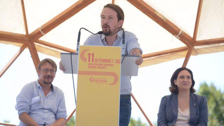 La Diada en clave de ambigüedad: Ada Colau y Pablo Iglesias no se ponen de acuerdo
