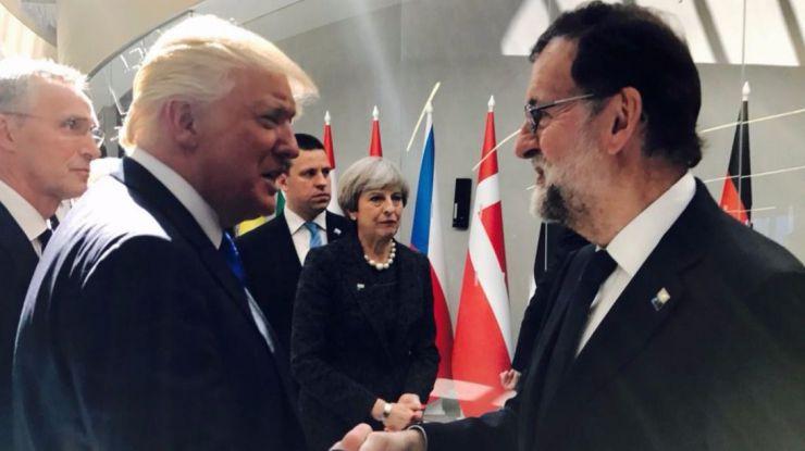 Trump sale en defensa de Rajoy sobre Cataluña