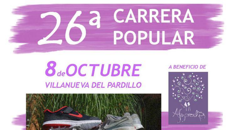Villanueva del Pardillo organiza la vigésimo sexta edición de la Carrera Popular San Lucas 2017