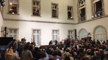 La declaración de independencia de Cataluña que han firmado los partidos soberanistas