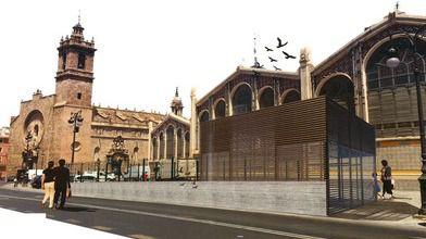 El aparcamiento de la plaza de Brujas en Valencia estará en servicio a finales de 2018
