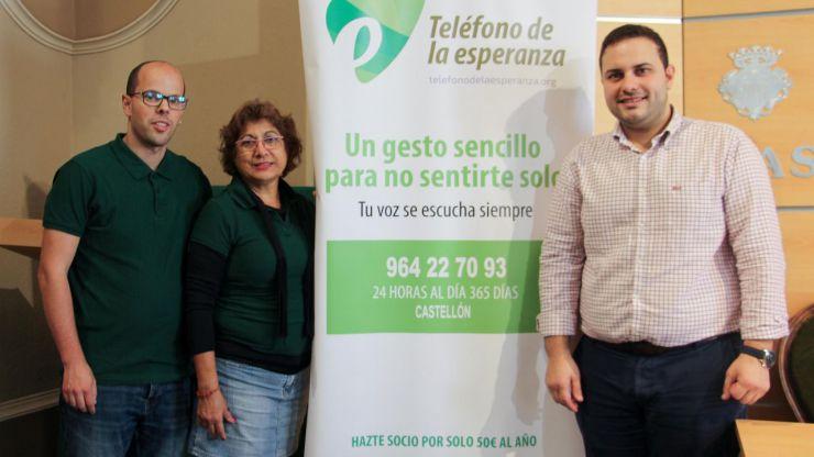 Bienestar Social destaca el trabajo del Teléfono de la Esperanza en la atención a las personas que se sienten solas y aisladas en Castellón