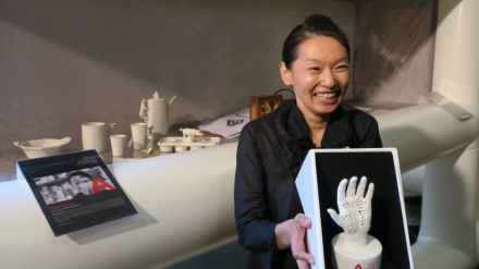 Yukiko Kitahara, de la Federación de Artesanos de Sevilla (FAS), recibe el Premio Nacional de Artesanía