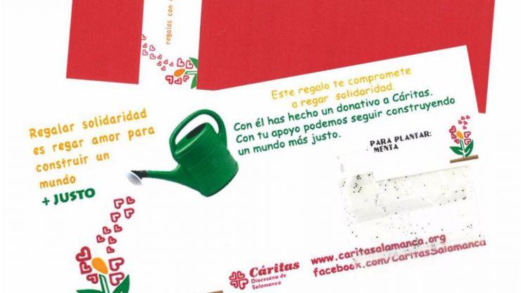 Caritas invita a hacer regalos solidarios a los españoles