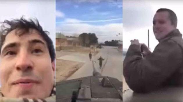 Dos civiles amenazan a Puidgemont e Iglesias desde un tanque