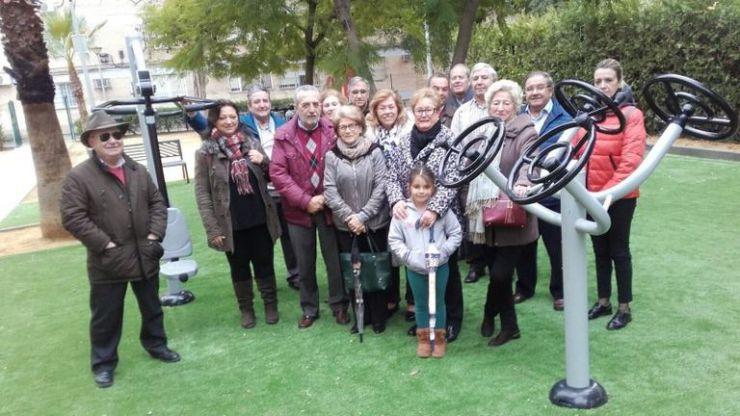 El Ayuntamiento de Sevilla culmina la instalación de el área biosaludables del Parque Puerto de las Palomas