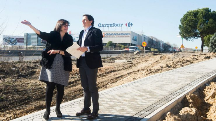 Pozuelo invierte medio millón de euros en un itinerario peatonal de más de 1.500 metros de aceras