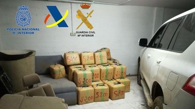 Aprehendidos 2.500 kilogramos de hachís en una finca de La Línea de la Concepción
