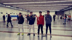 Éxito de los deportistas majariegos en hockey, atletismo y esgrima