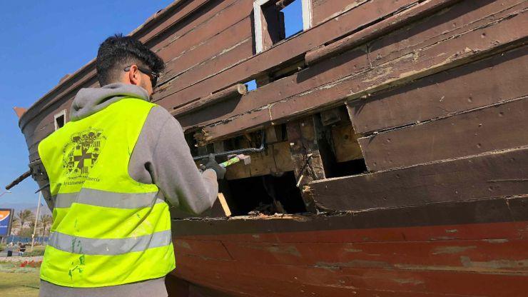 El Ayuntamiento de Almería inicia los trabajos de mejora de la Faluca Almeraya