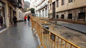 El Ayuntamiento de Jaén prevé finalizar la obra en la calle Carrera de Jesús a lo largo del mes de mayo