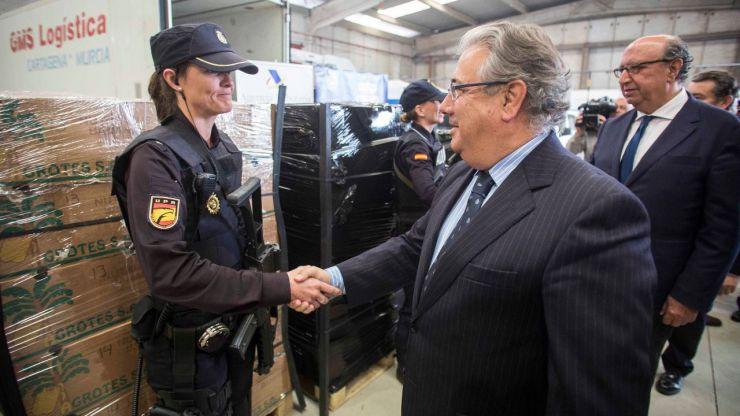 El mayor alijo de cocaína aprehendido en un contenedor en Europa y la mayor incautación de narcotráfico en España