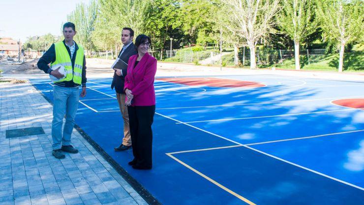 Avanzan las obras de la nueva zona deportiva y de ocio de Pozuelo