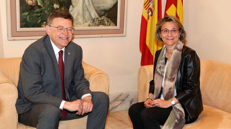 Puig recibe en audiencia a la nueva rectora de la Universitat Jaume I