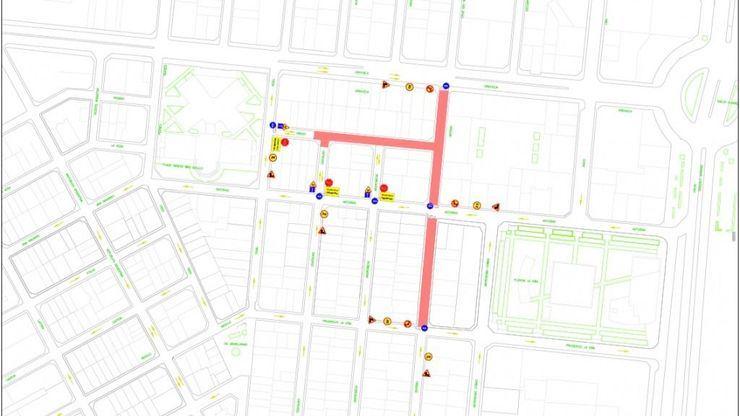 Corte de tráfico desde asta el 29 de junio en la calle grado en Alicante