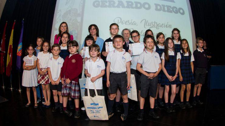 Los escolares de Pozuelo reciben sus premios del concurso escolar de Poesía, Ilustración y Declamación Gerardo Diego