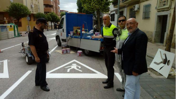 El Ayuntamiento de Jaén acomete el repintado y reposición de la señalización en la Avenida de Barcelona