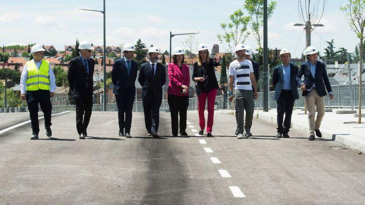 Avanzan a buen ritmo las obras en la Avenida del Talgo con las que se mejorará la conexión con Aravaca