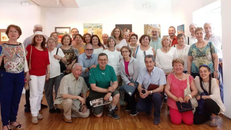 Los mayores pintores exponen sus obras en el Centro Cultural Padre Vallet