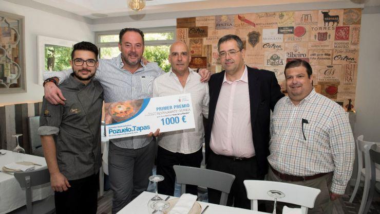 Ostrea, Taberna Entretrés y Tres 60 se alzan con los premios de la última edición de Pozuelo de Tapas