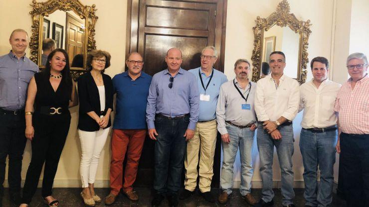 El alcalde de Jaén recibe a la nueva junta directiva de la AVV San Eufrasio